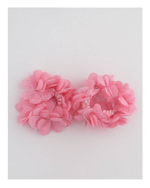 Bright color flower hair scrunchie - Kendalls Deals