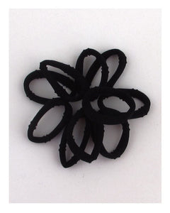 10 pc. Black elastic ponytail holder - Kendalls Deals