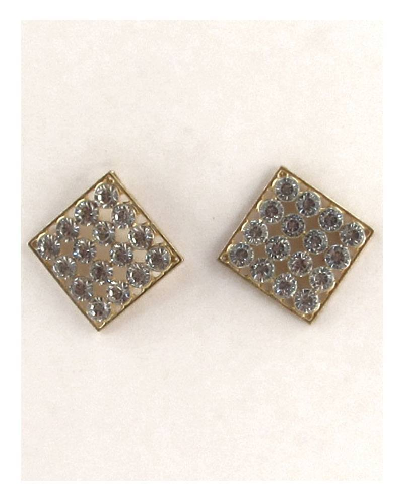Diamond shape rhinestone earrings - Kendalls Deals