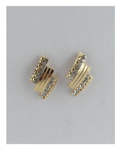 Rectangular rhinestone stud earrings - Kendalls Deals