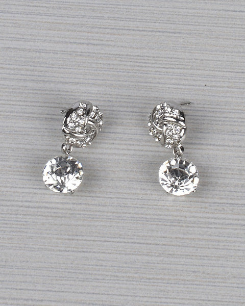 Pavé Crystal Drop Earrings - Kendalls Deals