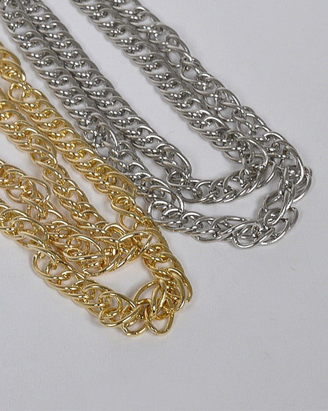 Layered Multiple Link Chain Necklace