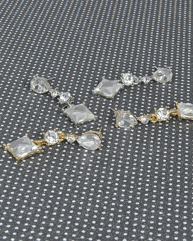 Crystal Studded Drop Earrings with Multiple Pattern - Kendalls Deals