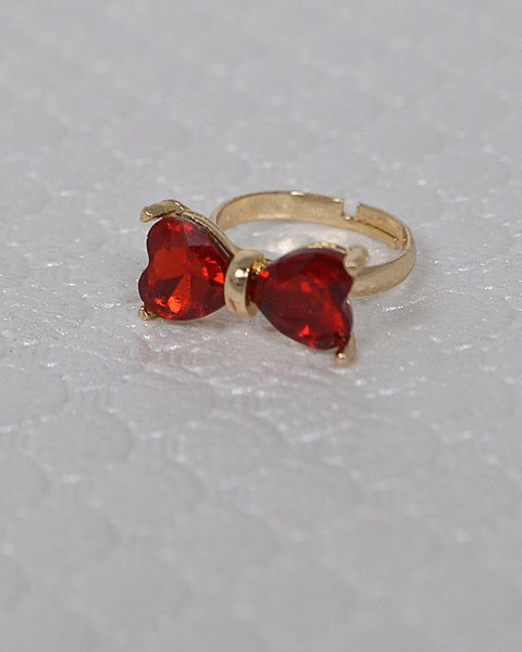 Crystal Studded Bow Shaped Ring id.31460 - Kendalls Deals