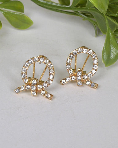 Hollow Circular Stone Studded Earrings id.31468