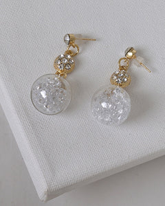 Crystal and Stone Embellished Drop Earrings with Post Back Closure id.31480 - Kendalls Deals