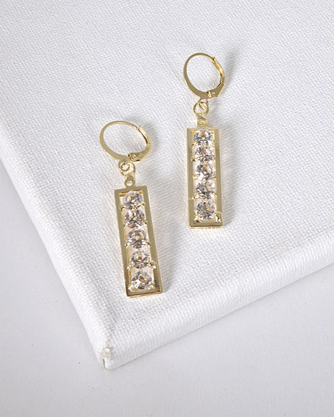 Crystal Studded Drop Earrings id.31601 - Kendalls Deals