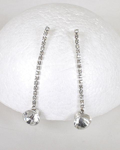 Rhinestones and Crystal Studded Drop Earrings - Kendalls Deals