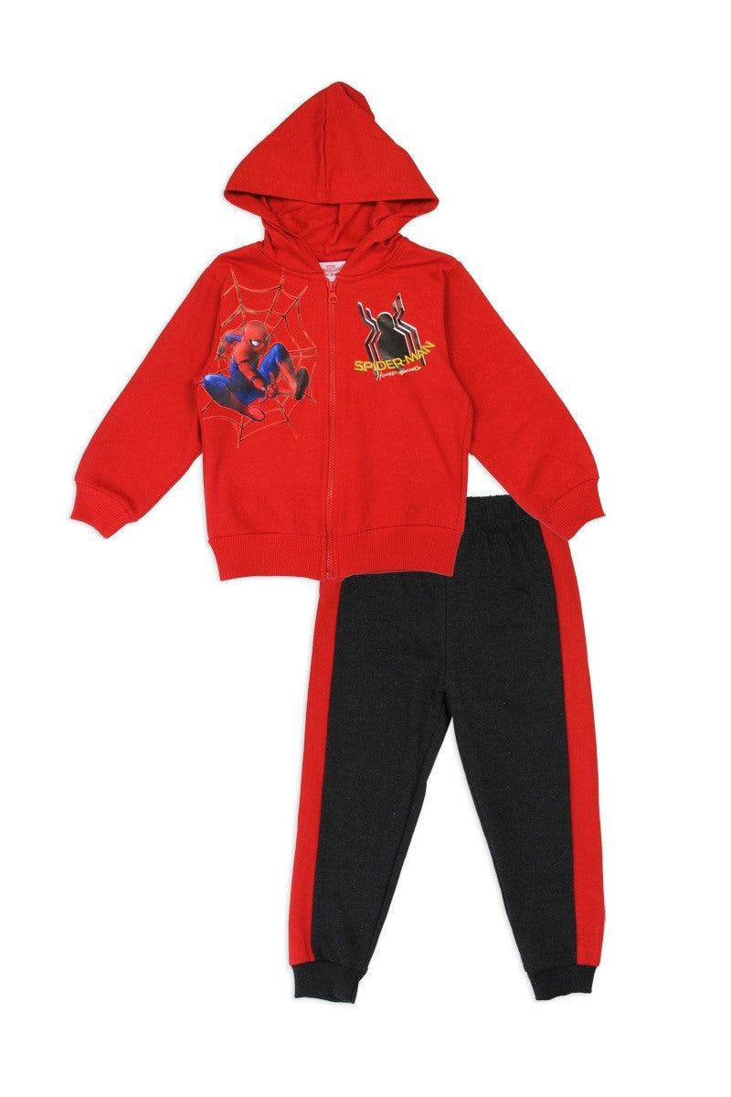 Boys spider-man 2-4T 2-piece zip-up fleece set - Kendalls Deals