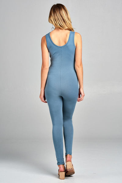Ladies fashion sleeveless bodycon jumpsuit - Kendalls Deals