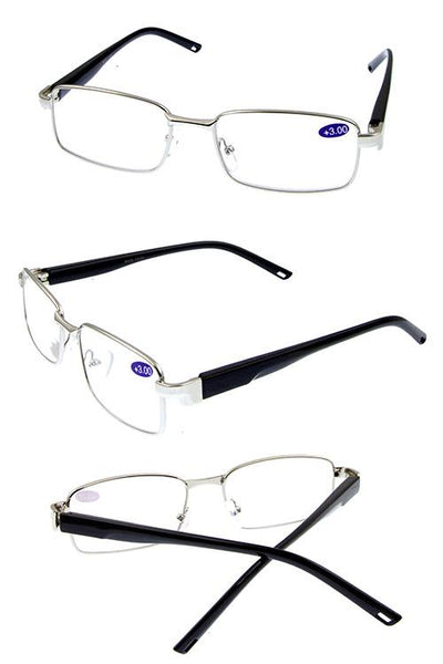 Metal fully rimmed reader glasses - Kendalls Deals