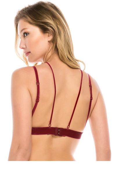 Ladies fashion micro suede bralette w/y strap - Kendalls Deals