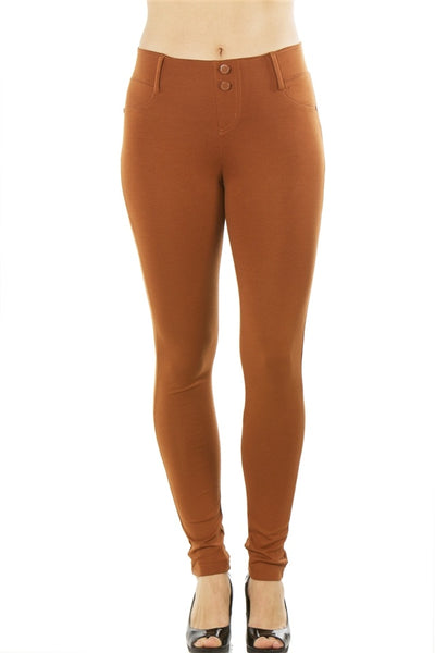 Ladies fashion stretch cotton blend leggings - Kendalls Deals