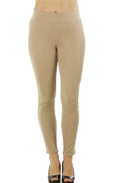 stretch cotton blend leggings - Kendalls Deals