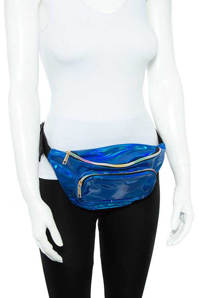holographic shiny fanny pack - Kendalls Deals