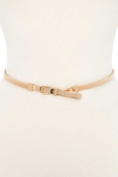 Buckle metal accent springy belt - Kendalls Deals