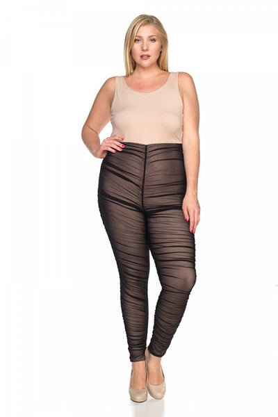 Ladies fashion plus size lace sheer jumpsuit - Kendalls Deals