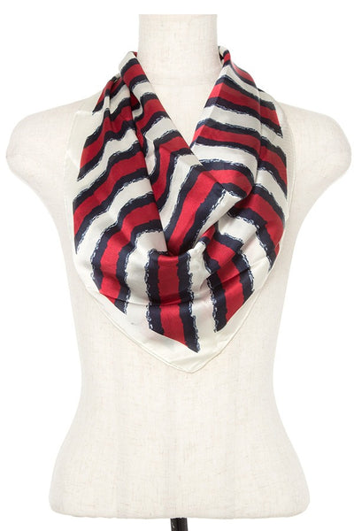 Stripe silk scarf - Kendalls Deals