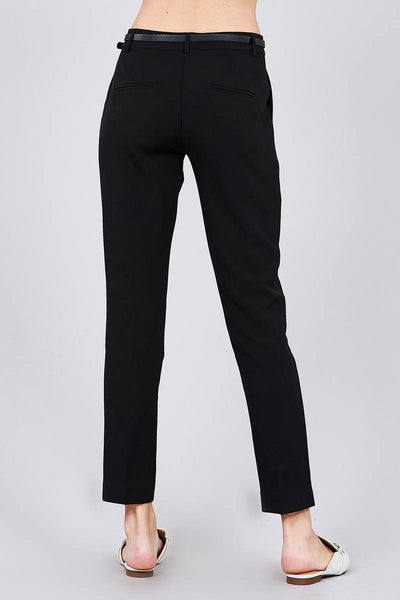 Classic Woven Pants W/belt - Kendalls Deals