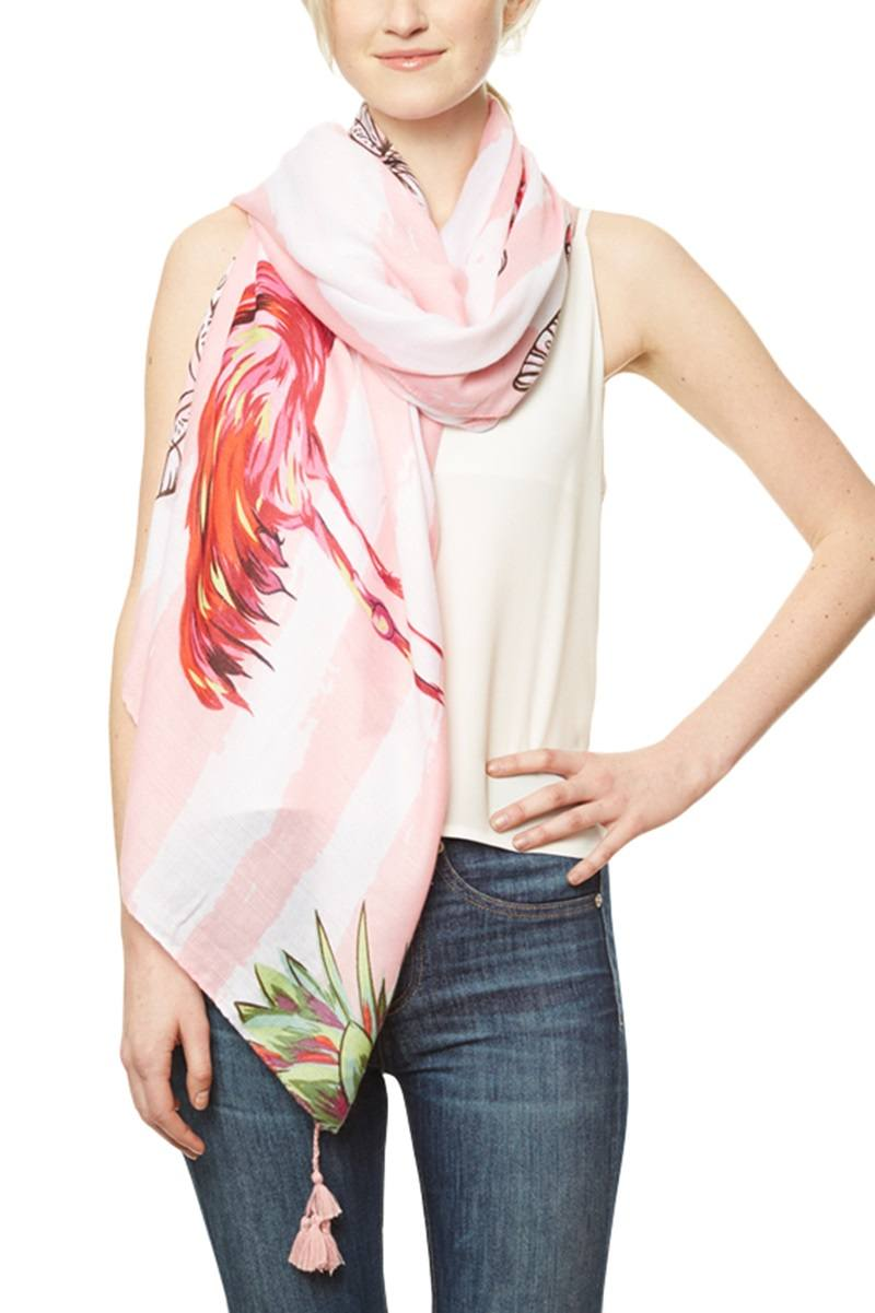 Tropical Print Scarf - Kendalls Deals