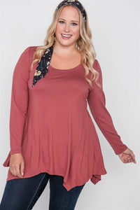 Plus Size Long Sleeve Basic Top - Kendalls Deals