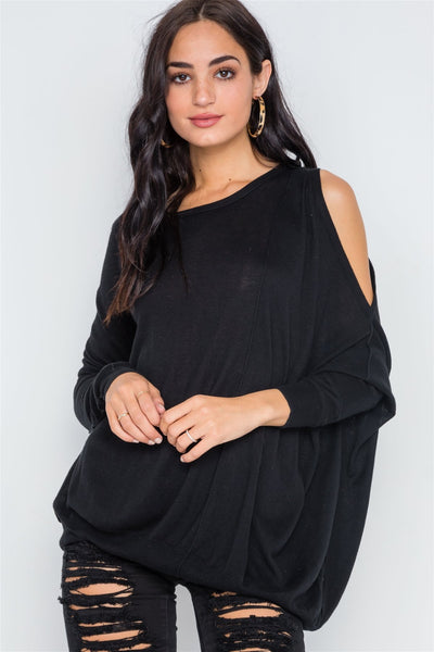 Asymmetrical Hem Seamed Sweater - Kendalls Deals