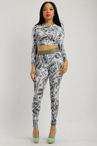 Dollar Sublimation Print 2 Pieces Set - Kendalls Deals