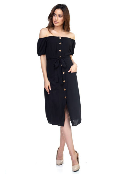 Button Down Midi Dress - Kendalls Deals