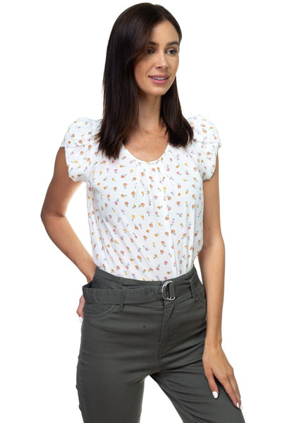 Tulip Short Sleeve Pleated Shirts - Kendalls Deals