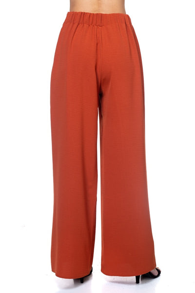 Belted Pleated Palazzo Pants - Kendalls Deals