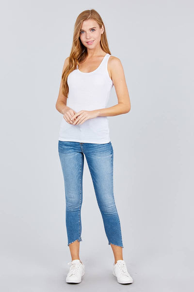 Racer Back Rib Tank Top - Kendalls Deals