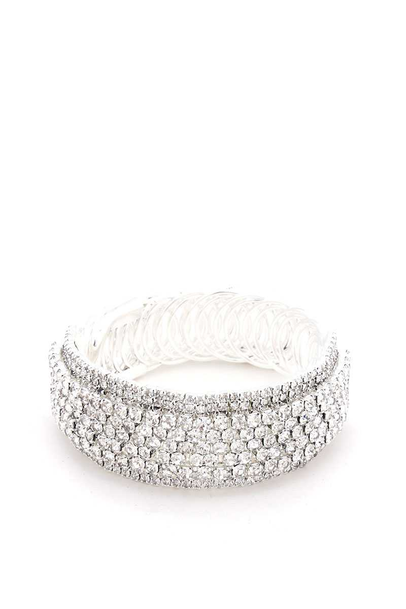 Rhinestone Adjustable Metal Bracelet - Kendalls Deals