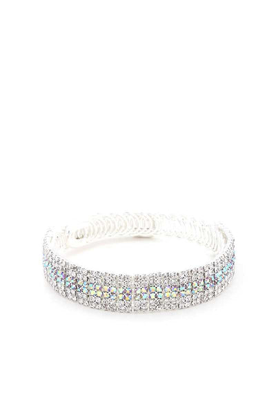 Rhinestone Flexible Metal Bracelet - Kendalls Deals