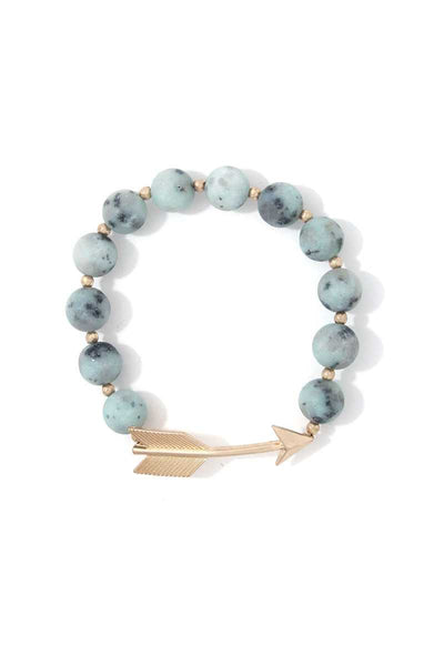 Arrow Charm Beaded Stretch Bracelet - Kendalls Deals