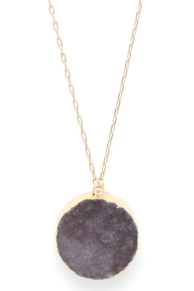 Druzy Stone Layered Y Shape Necklace - Kendalls Deals