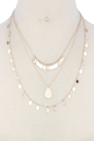 Metal Layered Necklace - Kendalls Deals