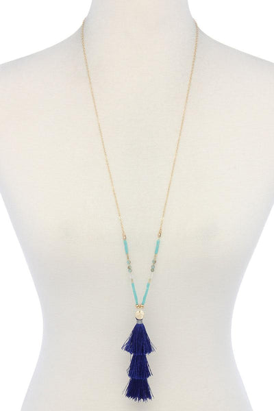 Tassel Beaded Necklace - Kendalls Deals