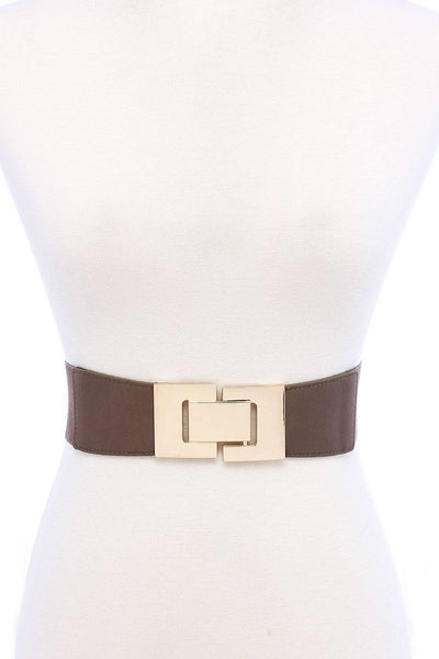 Fashion Stretchable Square Buckle Belt - Kendalls Deals