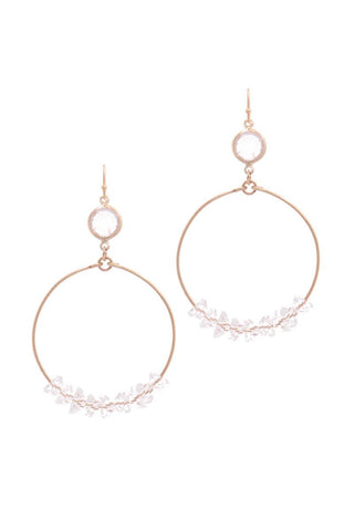 Cutout Circle Drop Earring