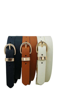 Trio Metal Loop Ring Belt Set - Kendalls Deals