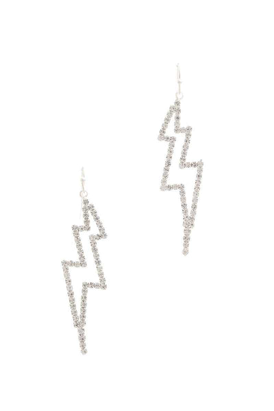 Rhinestone Lighting Bolt Drop Earring