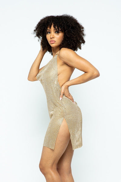 Halter Pure Metal Dress