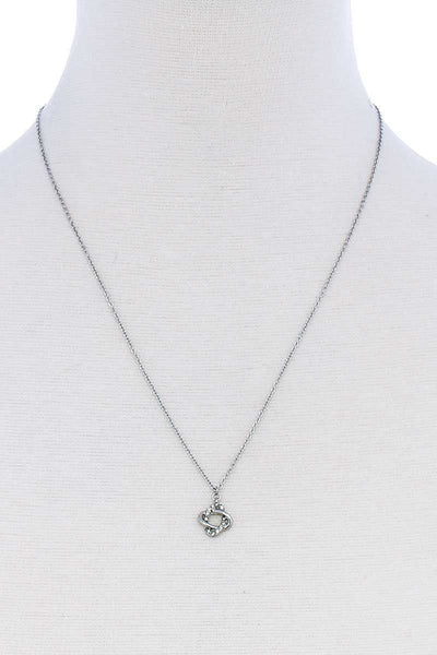 Fashion Rhinestone Cute Pendant Necklace - Kendalls Deals