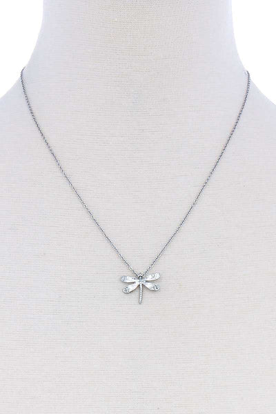 Cute Dragonfly Pendant Modern Necklace - Kendalls Deals