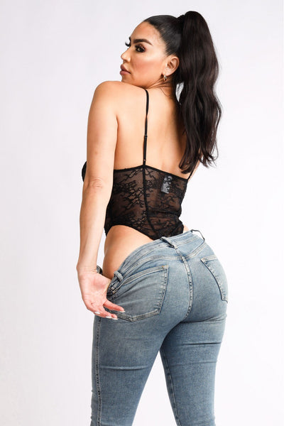 Lace Corset Bodysuit - Kendalls Deals