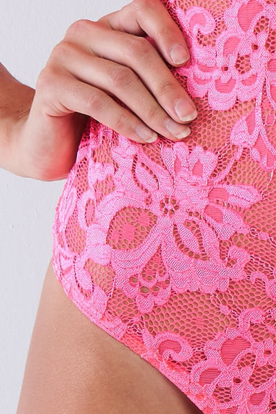 Lace Collared Short Sleeve Corset Back Sexy Bodysuit - Kendalls Deals