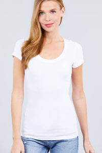 Short Sleeve Scoop Neck Tee - Kendalls Deals