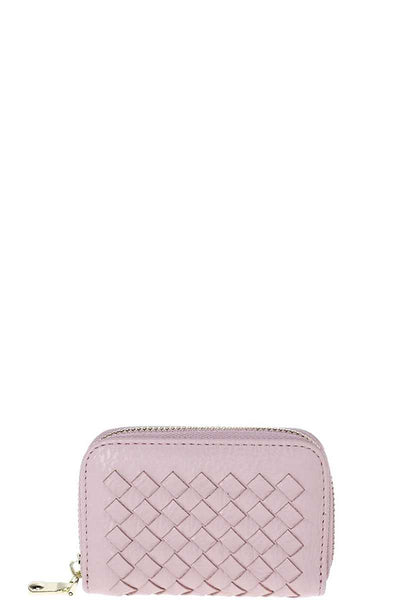 Stylish Zip Around Multi Slots Braided Card Case - Kendalls Deals