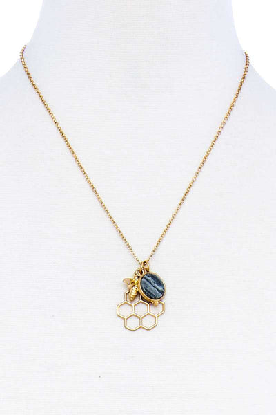 Fashion Bee Hive Pendant Necklace - Kendalls Deals