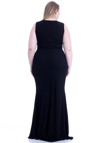 Stretch Hukuru Glitter Mermaid Maxi Dress - Kendalls Deals